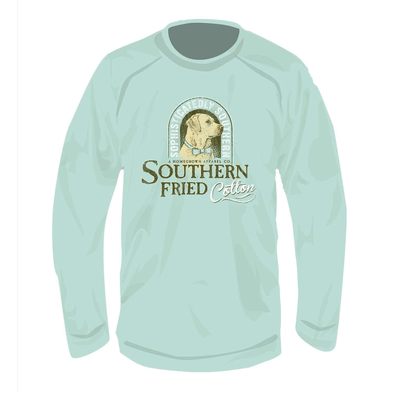 Preppy Boy Crew Neck Fleece in Island Reef Green by Southern Fried Cotton