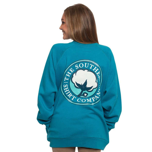 Raglan Fleece Sweatshirt in Bluejay by The Southern Shirt Co.