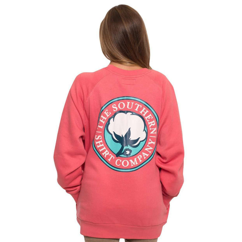 Women's Sweaters - Raglan Fleece Sweatshirt In Desert Rose By The Southern Shirt Co.
