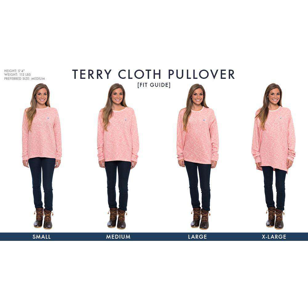 Women's Sweaters - Terry Cloth Pullover In Desert Rose By The Southern Shirt Co.