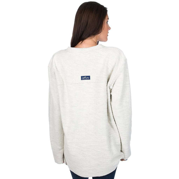 The Shaggy V-Neck Sweatshirt in Oatmeal by Lauren James - FINAL SALE