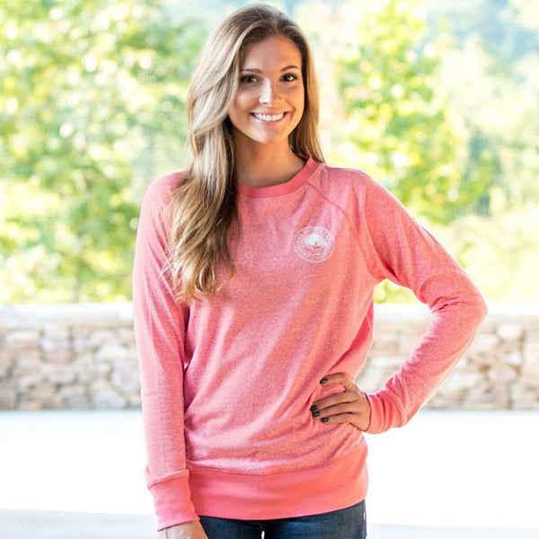 Vintage Heather Crew in Sugar Coral by The Southern Shirt Co. - FINAL SALE