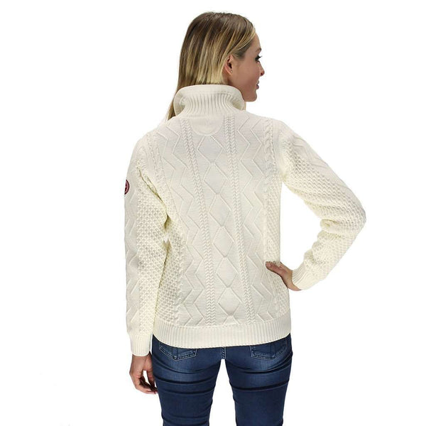 Women's Amy 1/4 Zip Windproof Pullover in Off White by Holebrook