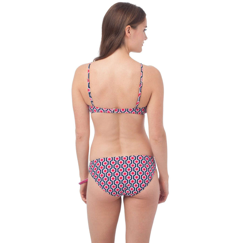 Women's Swimwear - Surfside Bikini Bottom In Geo Print By Southern Tide