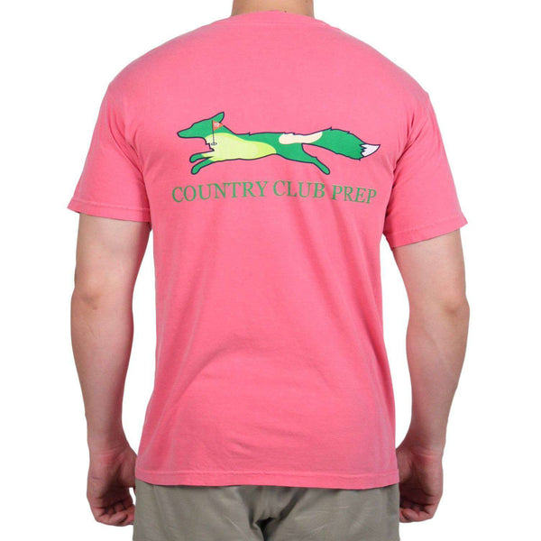 19th Hole Longshanks Logo Tee Shirt in Crunchberry by Country Club Prep