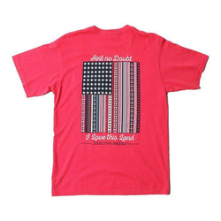 Women's Tee Shirts - Ain't No Doubt I Love This Land Tee In Firecracker By Jadelynn Brooke