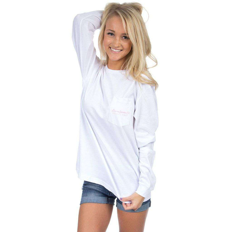 Women's Tee Shirts - Alabama Dixieland Delight Long Sleeve Tee In White By Lauren James - FINAL SALE