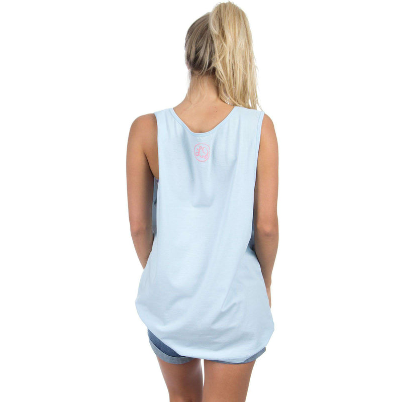 Women's Tee Shirts - Alabama Lovely State Pocket Tank Top In Blue By Lauren James - FINAL SALE
