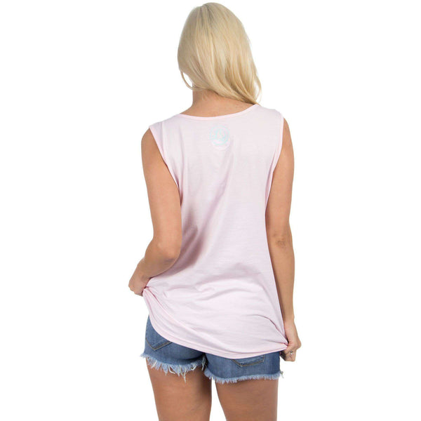 Alabama Lovely State Pocket Tank Top in Pink by Lauren James  - 2