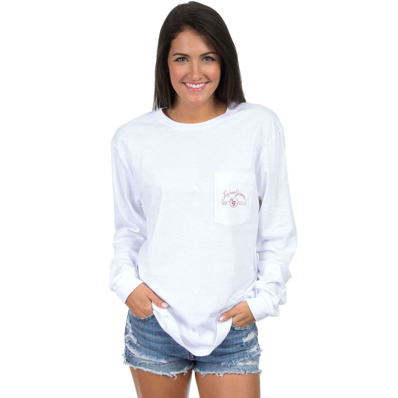 Alabama Perfect Pairing Long Sleeve Tee in White by Lauren James - FINAL SALE