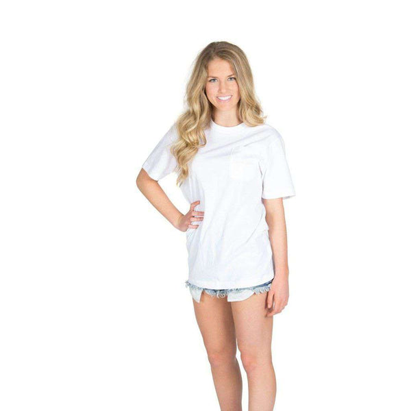All Roads Lead South Pocket Tee in White by Lauren James - FINAL SALE