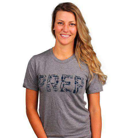 Women's Tee Shirts - All Things Prep Tee In Grey By Country Club Prep - FINAL SALE