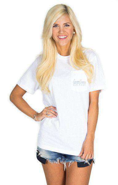 American Magnolia Pocket Tee in White by Lauren James - FINAL SALE