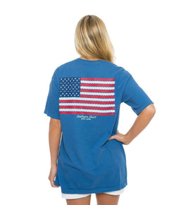 Women's Tee Shirts - American Twine Tee In Yale Navy By The Southern Shirt Co.