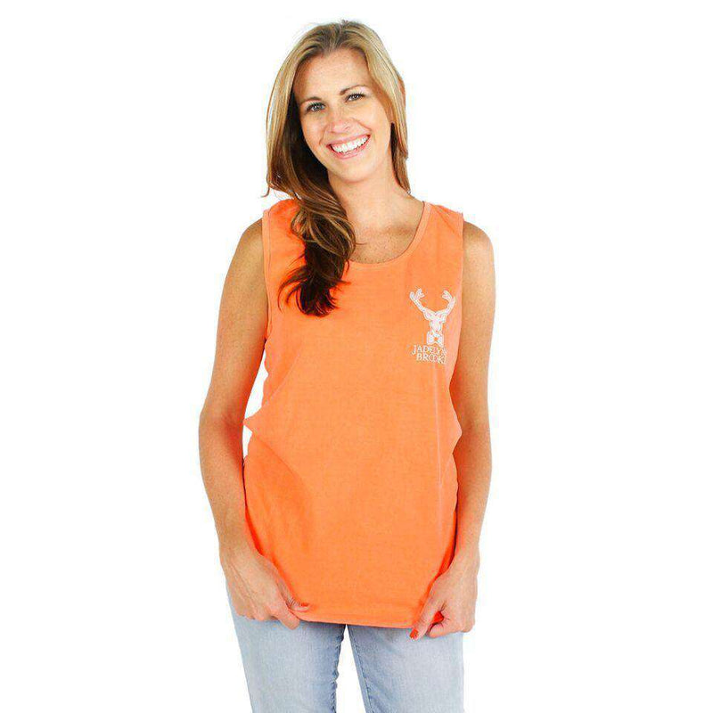 Women's Tee Shirts - Anchors Down, Bottoms Up In Neon Orange By Jadelynn Brooke