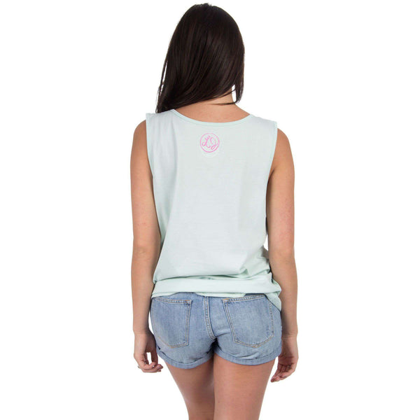 Arkansas Lovely State Pocket Tank Top in Mint by Lauren James  - 2