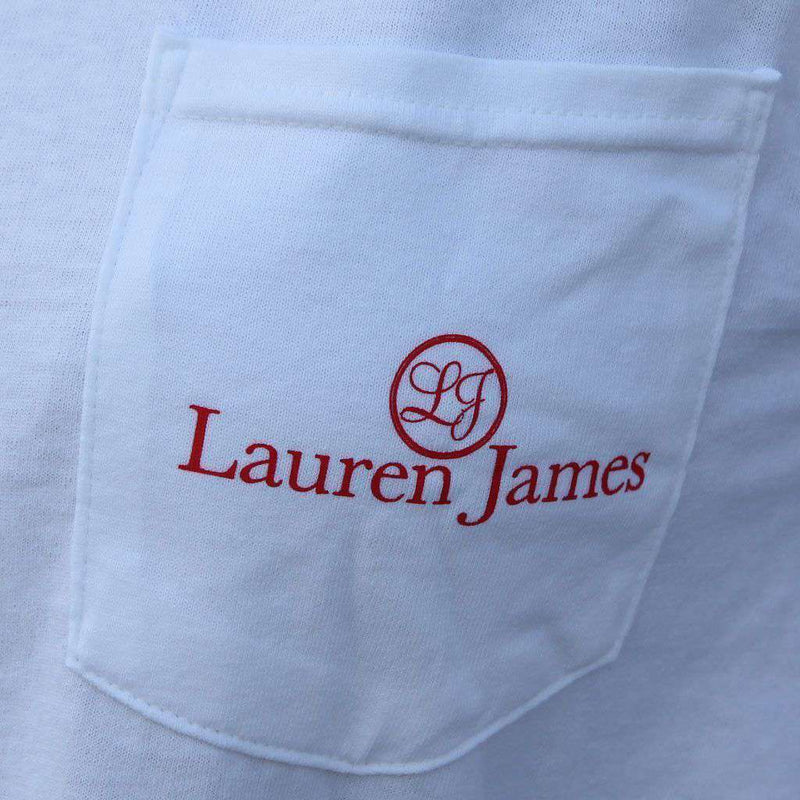 Arkansas Pride Long Sleeve Tee in White by Lauren James - FINAL SALE