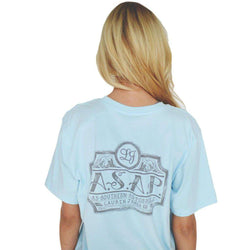 Women's Tee Shirts - As Southern As Possible Tee In Blue By Lauren James - FINAL SALE