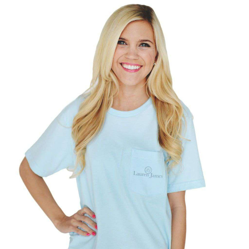 As Southern As Possible Tee in Blue by Lauren James - FINAL SALE