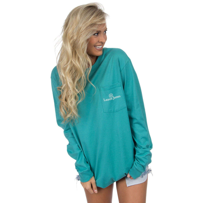 ASAP Long Sleeve Tee in Seafoam by Lauren James - FINAL SALE