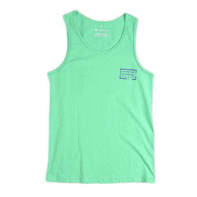 Women's Tee Shirts - Authentic Tank In Bimini Green By Southern Marsh