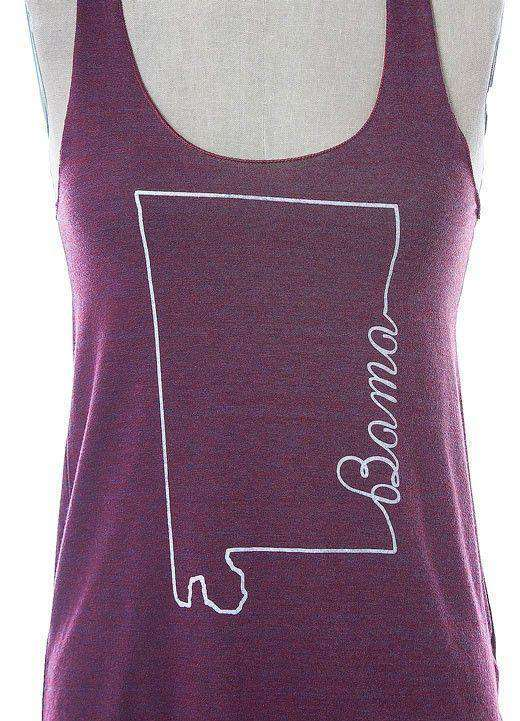 Women's Tee Shirts - Bama Tank Top In Cranberry By Judith March - FINAL SALE