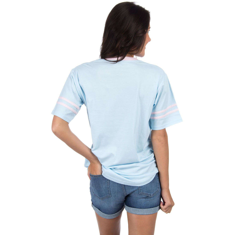 Baseball Logo Jersey in Light Blue by Lauren James - FINAL SALE