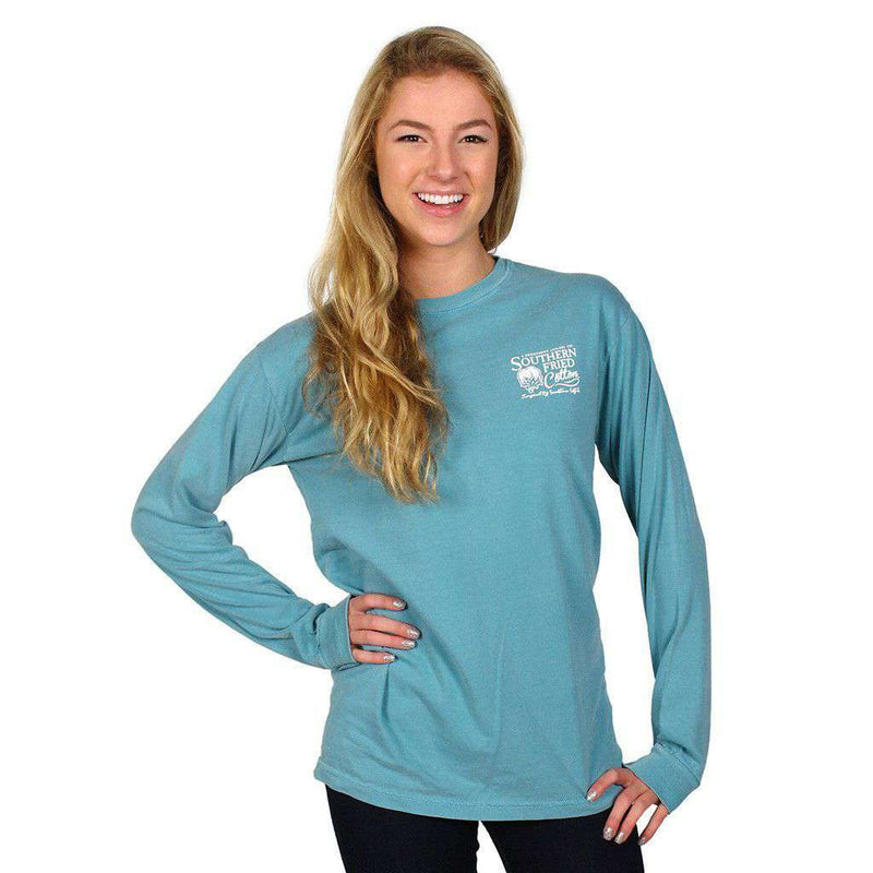 Bella & Bo Long Sleeve Tee Shirt in Seafoam by Southern Fried Cotton