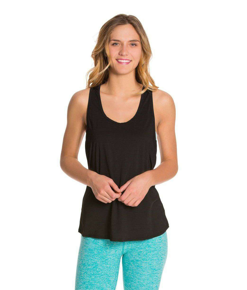 Women's Tee Shirts - Blurred Lines Tank In Black By Beyond Yoga - FINAL SALE