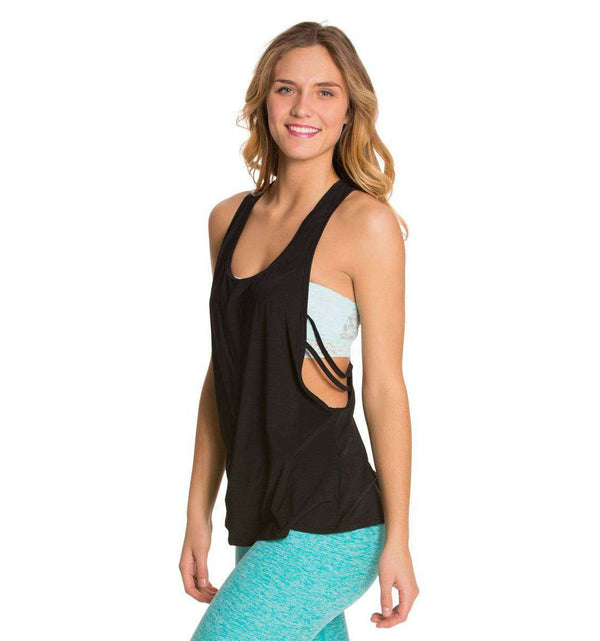 Blurred Lines Tank in Black by Beyond Yoga - FINAL SALE