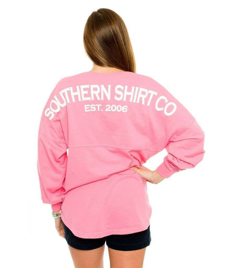Women's Tee Shirts - Boardwalk V-Neck Jersey In Lilly Pink By The Southern Shirt Co.