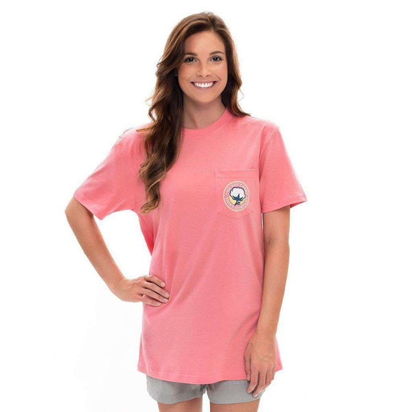 Bohemian Logo Tee in Strawberry Pink by The Southern Shirt Co. - FINAL SALE
