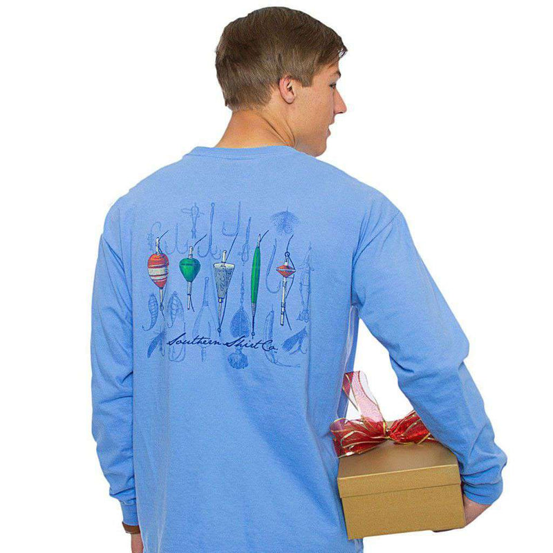 Classic Tackle Long Sleeve Tee in Hampton Blue by The Southern Shirt Co. - Country Club Prep