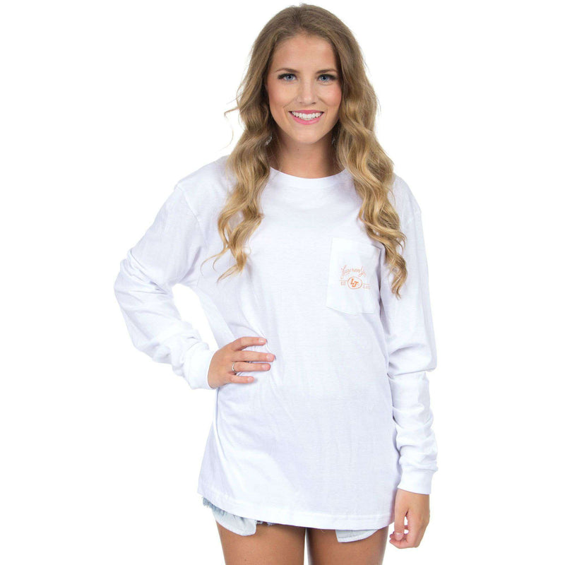 Women's Tee Shirts - Clemson Perfect Pairing Long Sleeve Tee In White By Lauren James