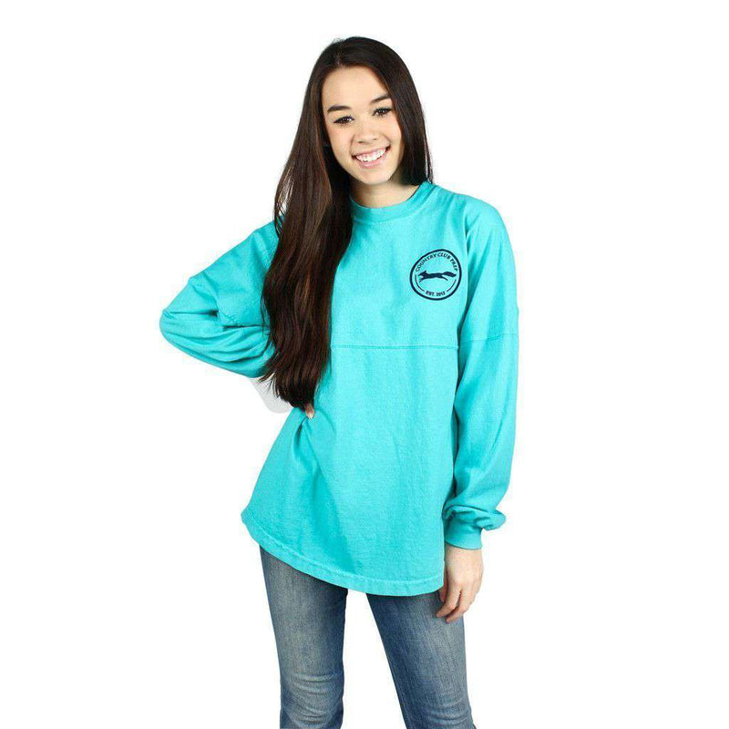 Women's Tee Shirts - Country Club Prep Jersey In Seafoam And Madras By Spirit Jersey - FINAL SALE