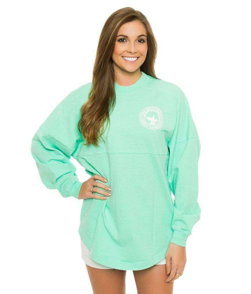 Crewneck Jersey Pullover in New Mint by The Southern Shirt Co.