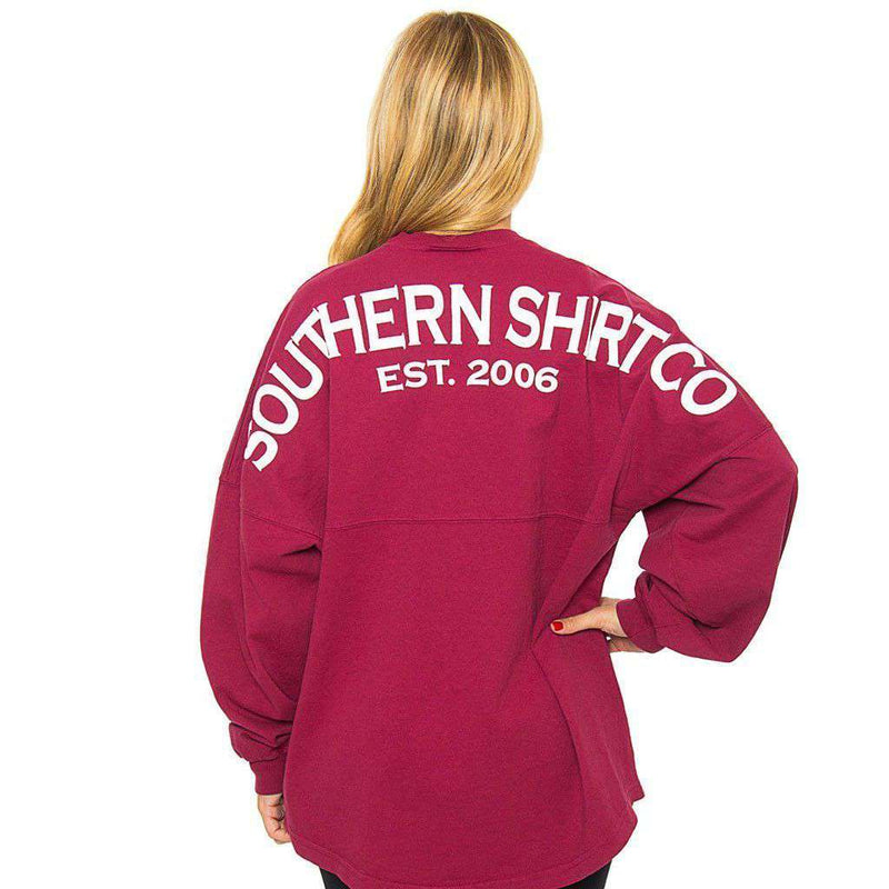 Crewneck Jersey Pullover in Sangria Red by The Southern Shirt Co. - Country Club Prep