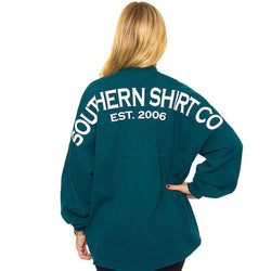 Women's Tee Shirts - Crewneck Jersey Pullover In Tuscan Teal By The Southern Shirt Co.