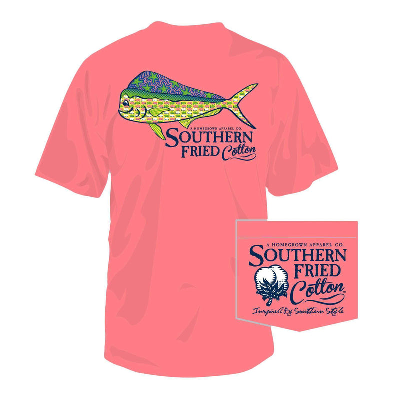 Women's Tee Shirts - Dorado Short Sleeve Tee Shirt In Watermelon By Southern Fried Cotton