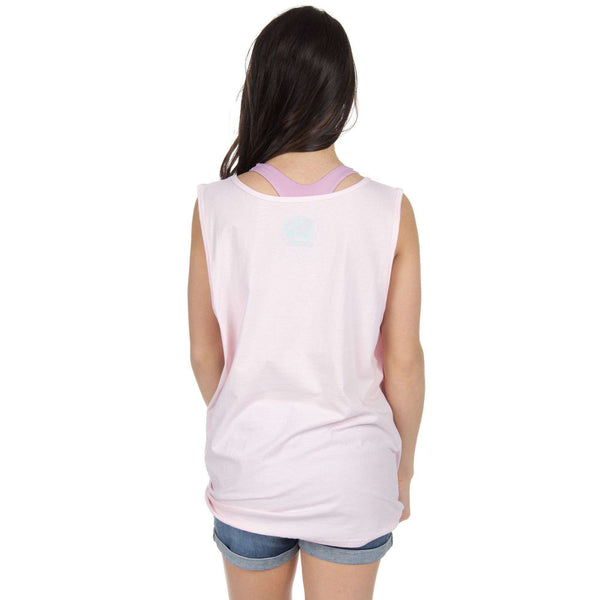 Florida Lovely State Pocket Tank Top in Pink by Lauren James  - 2