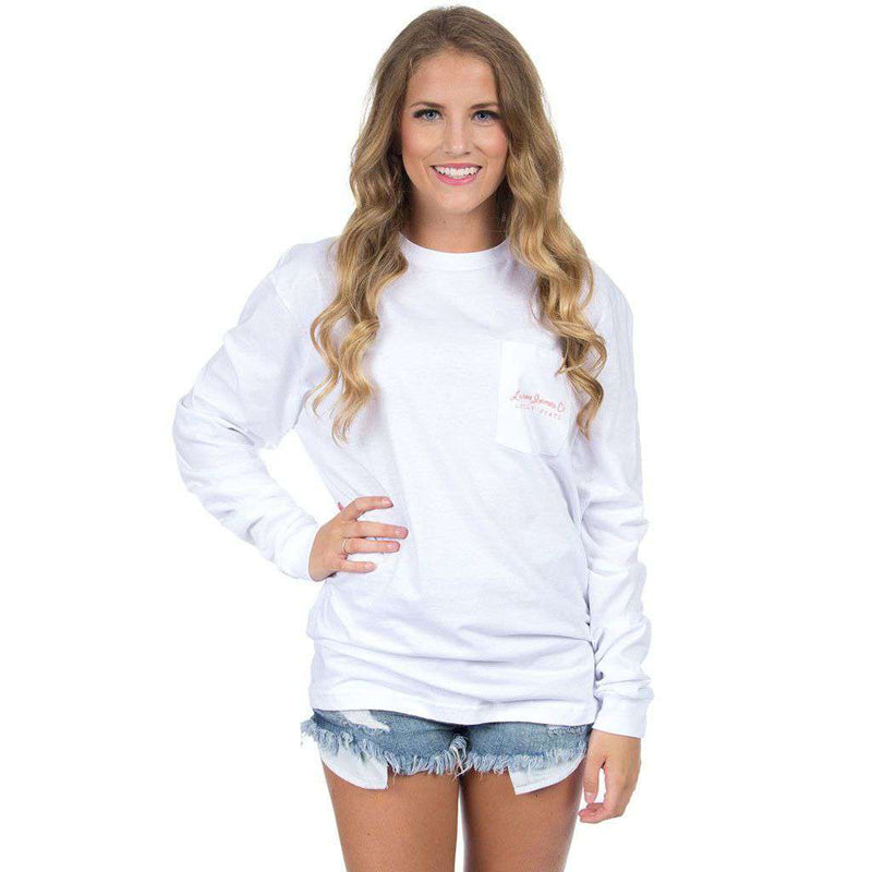 Florida Southern Sun Long Sleeve Tee in White by Lauren James - FINAL SALE