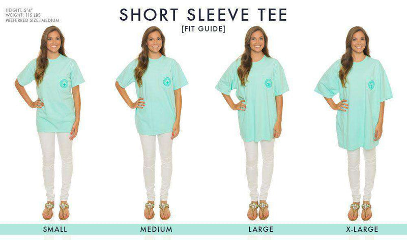 Flower Logo Short Sleeve Tee in Ocean Blue by The Southern Shirt Co.