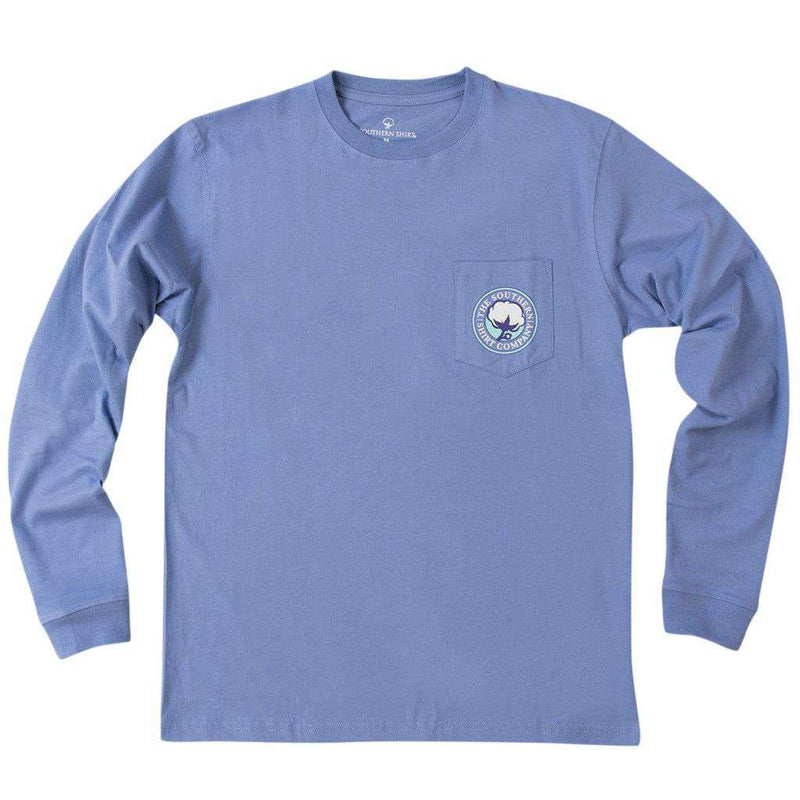 Game Day Tradition Long Sleeve Tee Shirt in Periwinkle by The Southern Shirt Co. - FINAL SALE