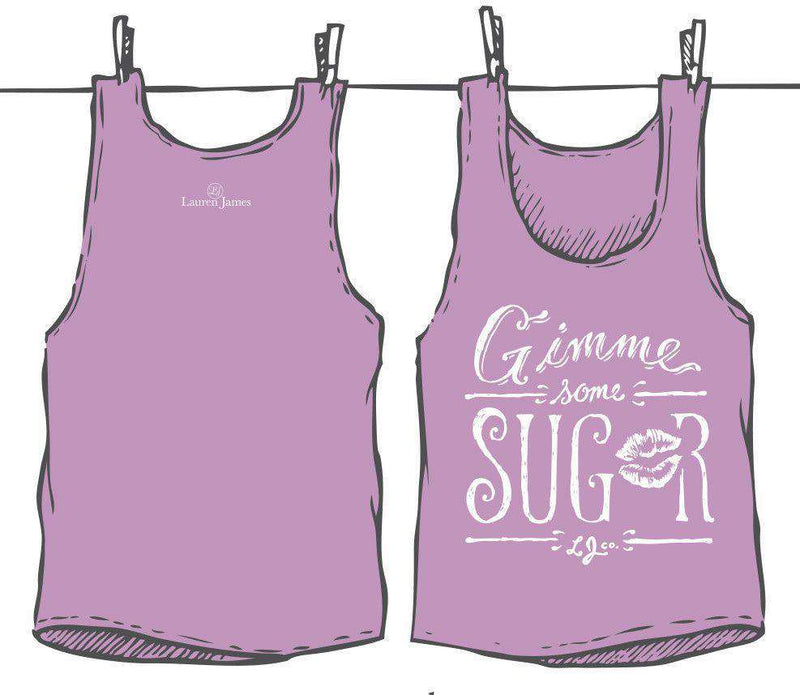 Gimme Some Sugar Tank Top in Lavender by Lauren James - FINAL SALE