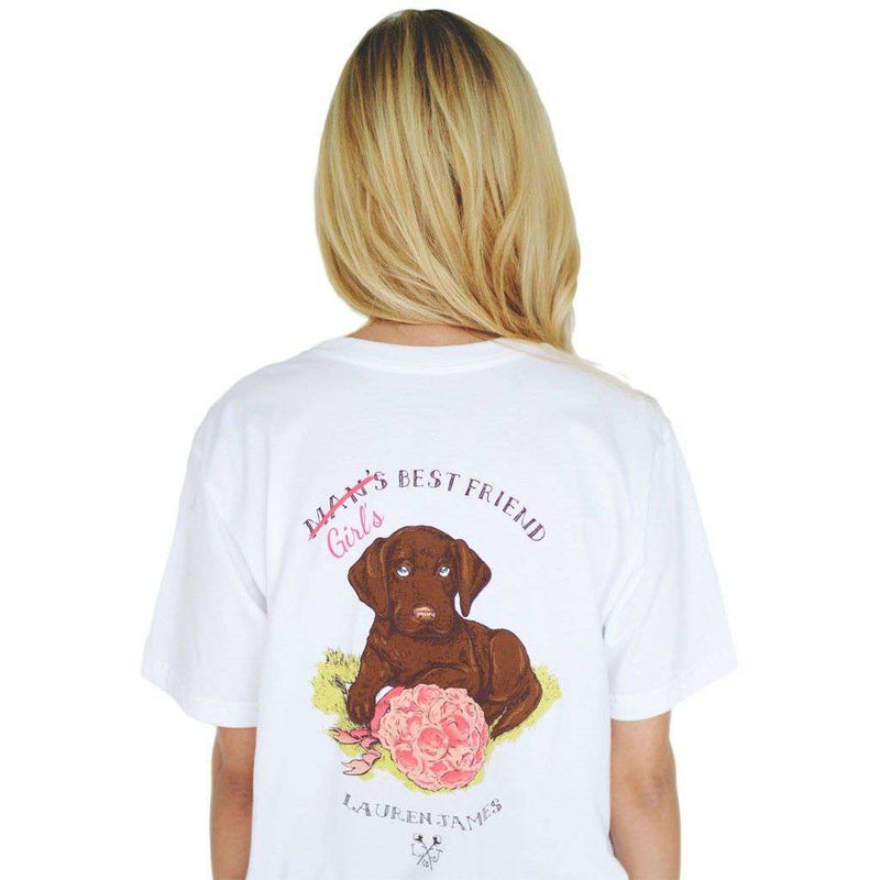 Women's Tee Shirts - Girl's Best Friend Tee In White By Lauren James - FINAL SALE