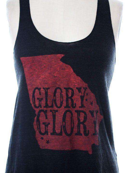 Women's Tee Shirts - Glory Glory Old Georgia Tank Top In Black By Judith March - FINAL SALE