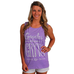 Women's Tee Shirts - Gooder Than Grits Tank Top In Lavender By Lauren James - FINAL SALE