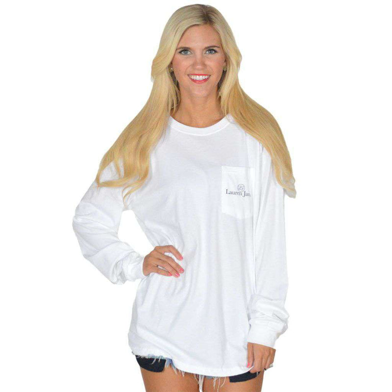 Heart of Texas Long Sleeve Tee in White by Lauren James - FINAL SALE