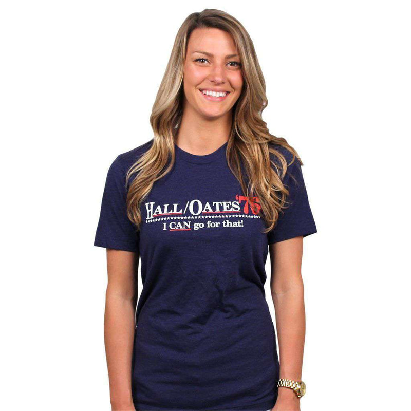 Women's Tee Shirts - I Can Go For That Vintage Tee In Navy By Country Club Prep