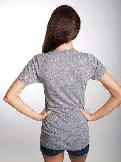 Women's Tee Shirts - Ivy Crest Shirt In Athletic Grey By Anchored Style - FINAL SALE